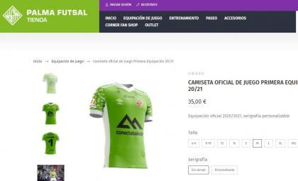 Distribución tienda online Palma Futsal